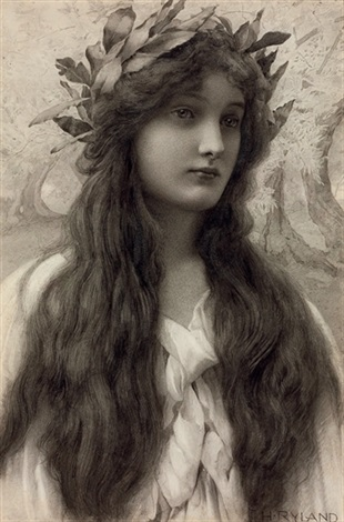 henry-ryland-maiden-with-a-laurel-wreath