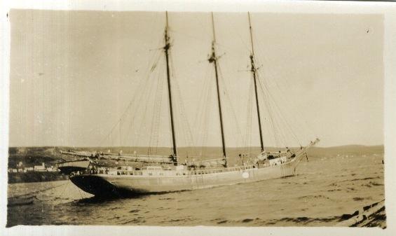 three masted schooner