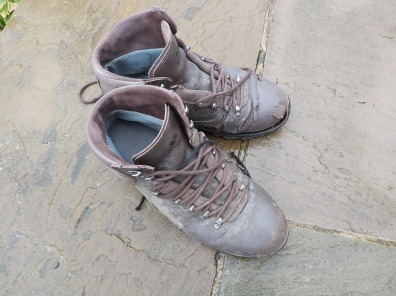 sad boots and shoes on the quayside - memorial