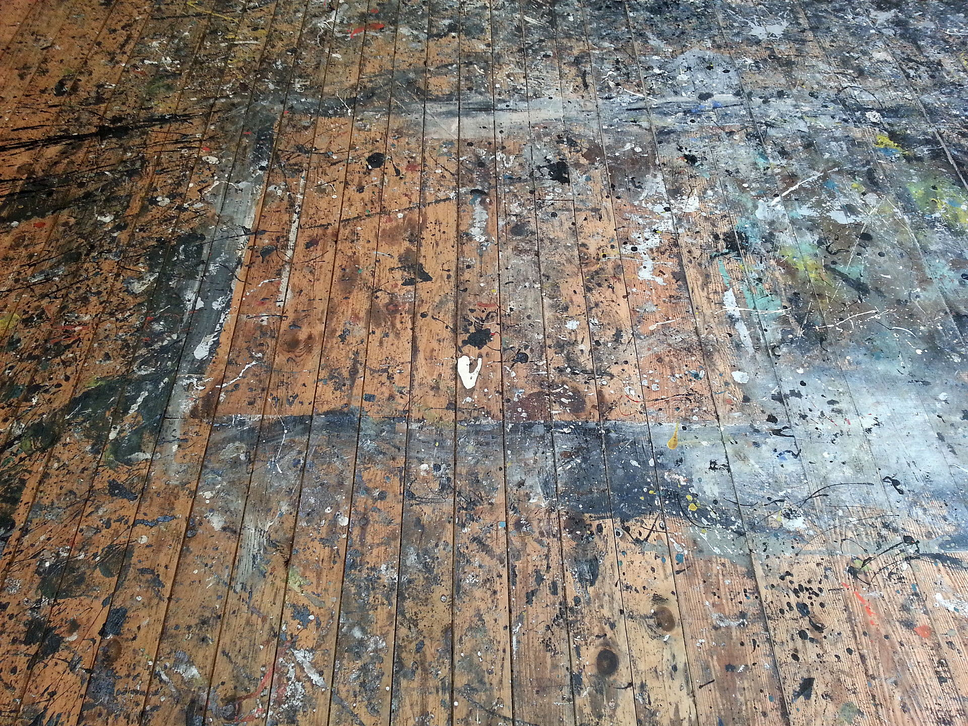 Pollock-Krasner_House_studio_floor